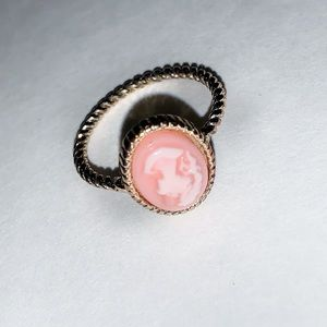 Marble pink and gold ring